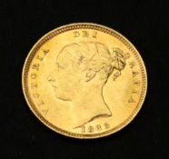 Queen Victoria half sovereign 1883.