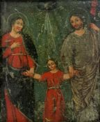 European School, 17th/18th Century, The Holy Family, oil on copper, 26cm x 31cm.
