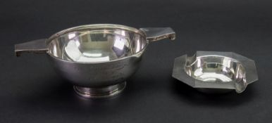 An Indian silver Quaich, inscribed 'Lord Carmichael Cup won by A.