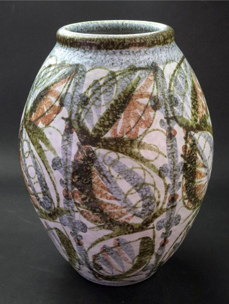 Lot 17 - A Glyn Colledge Bourne Denby baluster vase, 30cm high.