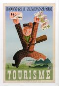 A vintage French poster 'Loterie Nationale', 60 x 37.5cm.