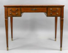 A Louis XVI style kingwood and crossbanded poudreuse, late 19th century, of rectangular form,