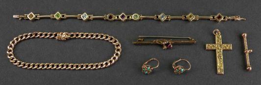 A collection of gold and gem-set jewellery;