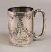 An Edwardian silver christening mug, T H Hazelwood, Birmingham 1907,