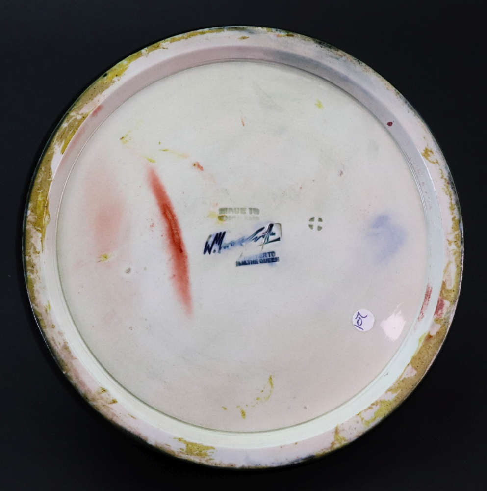 Lot 77 - A Moorcroft green glazed paper weight, on a dished circular base, 16.5cm diameter.