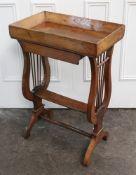 A Directoire walnut vide poche, early 19th century,