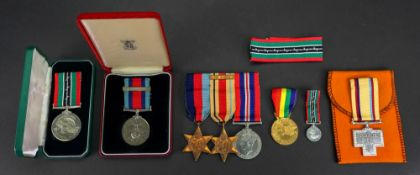 A Second World War medal group, 1939 - 1945 star, Africa star with 8th.
