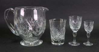 A suite of Webb split and star cut glassware,