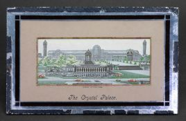 A Stevengraph pure silk woven picture 'The Crystal Palace', in original mount and mirrored frame,