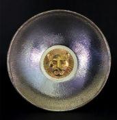 A deep circular silver bark finish dish, Stuart Devlin, London 1977,