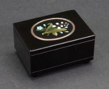 An Italian black marble rectangular box, circa 1880,