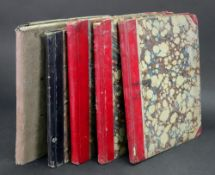 Five hand written in black ink school books of arithmetic dating from 1843-1846 by George Frederic