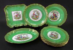 A Spode Copeland's china nine piece dessert service,