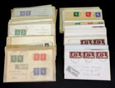 A large collection of George VI stamped registered envelopes (qty).