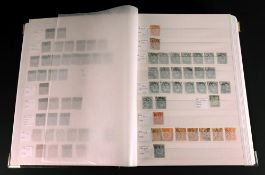 FRANCE; mint and used collection, 19th/20th century, in a red stock book.