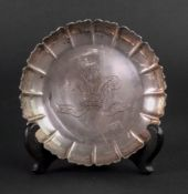 Tessiers; a silver reproduction strawberry dish, London 1981,