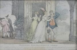 After Thomas Rowlandson, Miseries Miscellaneous, colour engraving, published 1807 by R.