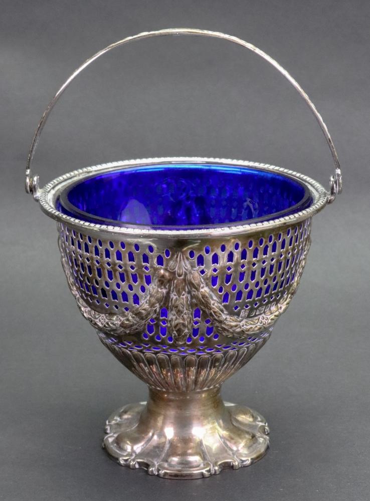 Lot 251 - A Victorian silver sugar basket, Sheffield 1881, makers mark CB EP,