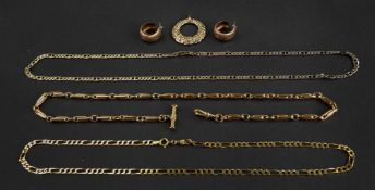 A collection of 9ct gold jewellery,