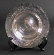 Asprey; a silver reproduction armada dish, London 1986, engraved 'The Dorchester Polo Trophy,