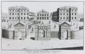 A collection of 23 prints and engravings of hospitals and medical buildings,