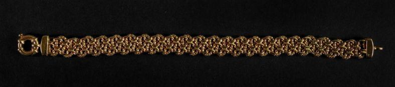 A 9ct gold fancy multiple-link bracelet,