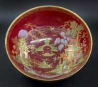 A Carlton Ware bowl, printed and coloure