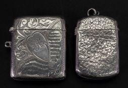 A Victorian silver vesta case, George Un