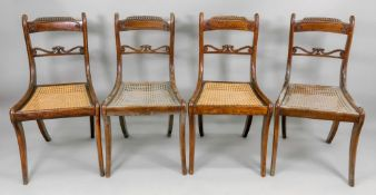 A set of four Regency beech stained as m