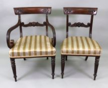 A set of eight William IV mahogany dinin