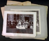 Four photographs of the Wedding Party of