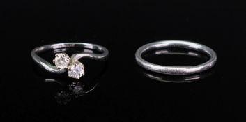 An 18ct white gold, platinum and diamond