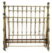 A Victorian brass rail end double bedste