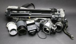 A Nikon EM camera, Niko FG-20, Tokina zo