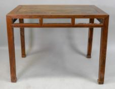 A Chinese side table, 102cm wide x 48cm