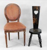 A reproduction Louis XVI style salon cha
