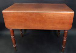An early Victorian mahogany Pembroke tab