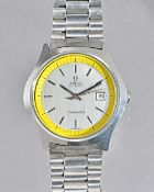 An Omega Seamaster Automatic steel gentleman's bracelet wristwatch,