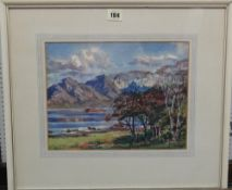Stirling Gillespie (1908-1993), The Red Cuillins, watercolour, signed, 23cm x 30cm.