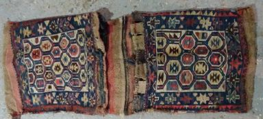 An Antique Caucasian Soumak Khorjin saddlebag,