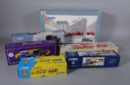 Toys, a large group of boxed Corgi classic models, mainly heavy haulage and lorries.