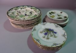 Ceramics, including; a large group of decorative dinner wares,