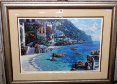 After Howard Behrens, Capri del mar, colour reproduction, 51cm x 76cm.
