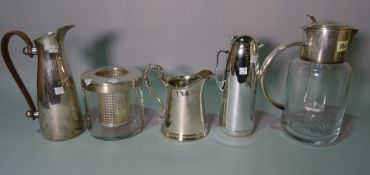 Silver Plated wares, including; water jugs, dishes, salver and sundry, (qty).