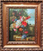 F** Blasco (20th century), Flowerpiece, oil on canvas, signed, 49cm x 38cm.