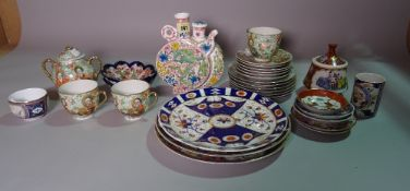 Asian ceramics, comprising; modern Chinese plates and tea wares, (qty).