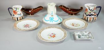 Ceramics, including; a group of mixed 20th century dinner wares,