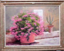 ** Esperon (20th century), Still life, oil on canvas, signed, inscribed and dated 1979 on reverse,