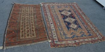 A Baluchistan tree of life rug and an Afshar rug, 176cm x 130cm, (2).