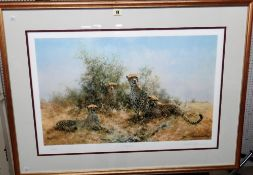 David Shepherd (1931-2017), Cheetah, colour print, signed in pencil and numbered 23/350,